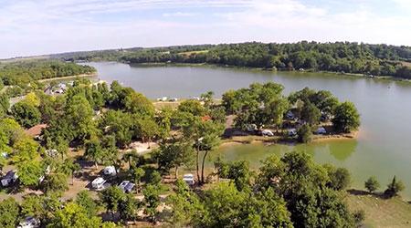 camping près d'un lac gers