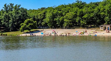 camping bord de lac gers